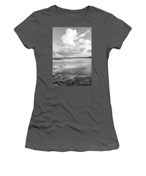 Women's T-Shirt (Junior Cut) featuring the photograph Ocean Texture Study by Nicholas Burningham
