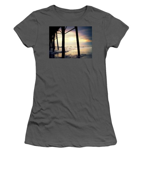 Women's T-Shirt (Junior Cut) featuring the photograph Oceanside - Late Afternoon by Glenn McCarthy