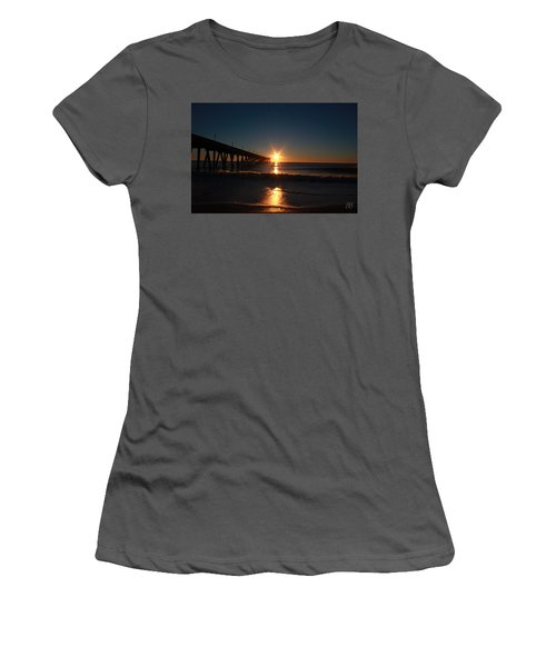 Women's T-Shirt (Junior Cut) featuring the photograph Oceanview Sunrise by Geri Glavis