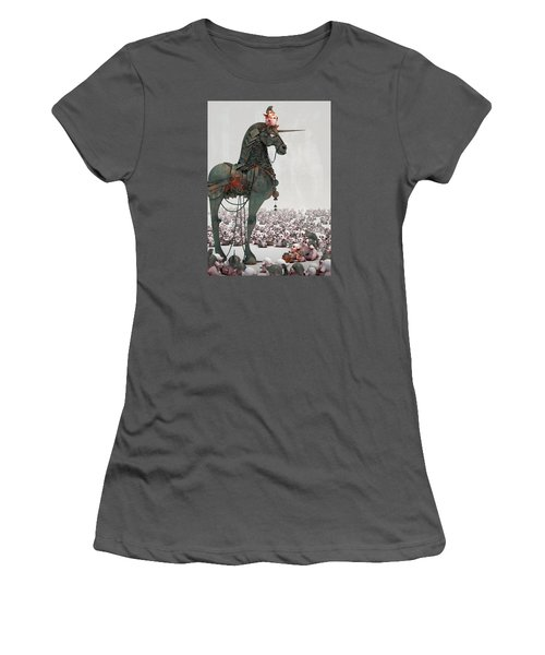 Women's T-Shirt (Junior Cut) featuring the digital art Offering by Te Hu