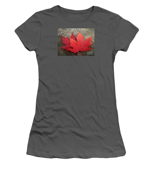 Oh Canada Women's T-Shirt (Junior Cut) by Reb Frost