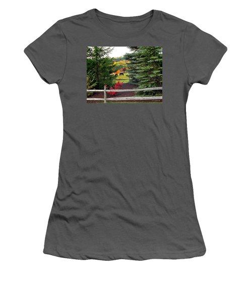 Ohio Farm In Autumn Women's T-Shirt (Athletic Fit)