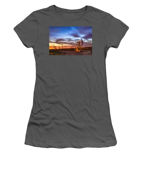 Oil Rigs 3 Women's T-Shirt (Athletic Fit)