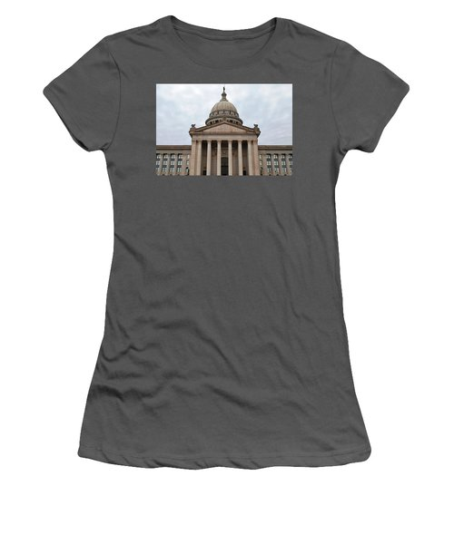 Oklahoma State Capitol - Front View Women's T-Shirt (Junior Cut) by Matt Harang