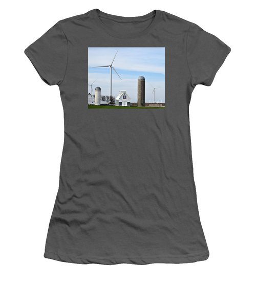 Old And New Farm Site Women's T-Shirt (Junior Cut) by Kathy M Krause