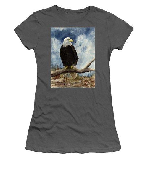 Old Baldy Women's T-Shirt (Junior Cut) by Sam Sidders