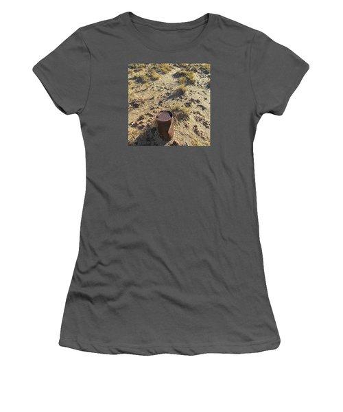 Old Beer Can Women's T-Shirt (Junior Cut) by Brenda Pressnall