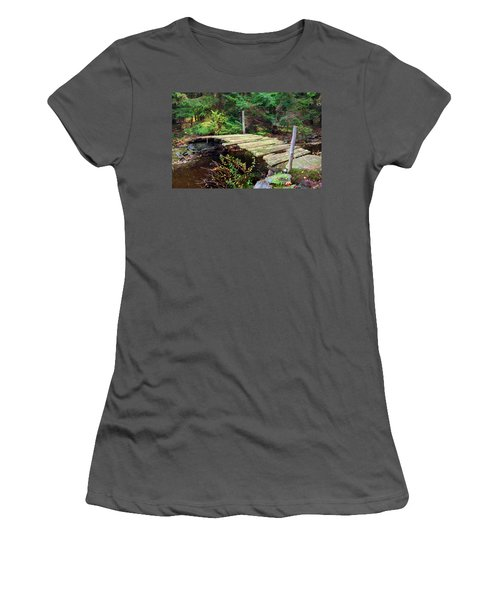 Old Bridge Women's T-Shirt (Junior Cut) by Francesa Miller