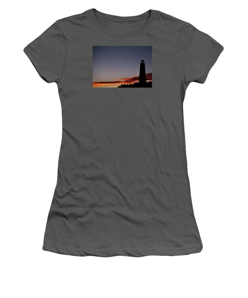 Old Cape Henry Sunrise Women's T-Shirt (Junior Cut) by Skip Willits