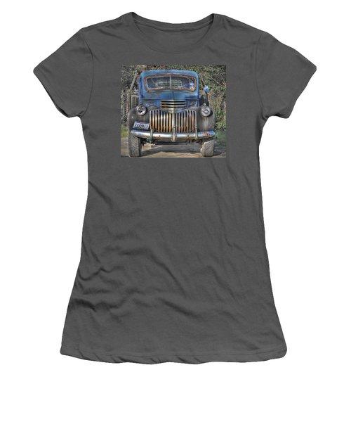 Women's T-Shirt (Junior Cut) featuring the photograph Old Chevy Truck by Savannah Gibbs
