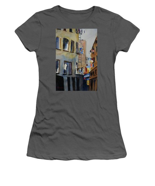 Old Chinatown Lane Women's T-Shirt (Junior Cut) by Tom Simmons