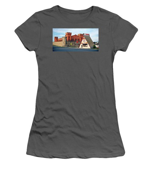 Old Deer Lodge Prison, Downtown, Vintage Women's T-Shirt (Athletic Fit)