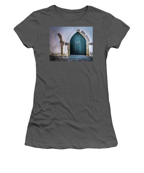Old Doorway In Monsaraz Women's T-Shirt (Athletic Fit)