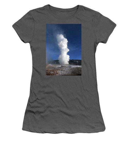Old Faithful In Winter 2 Women's T-Shirt (Junior Cut) by C Sitton