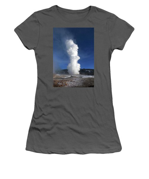 Old Faithful In Winter 2 Women's T-Shirt (Athletic Fit)