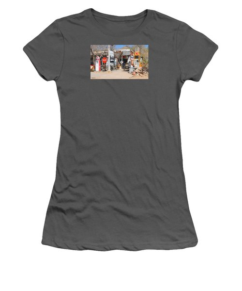 Old Gas Station, Historic Route 66 Women's T-Shirt (Athletic Fit)