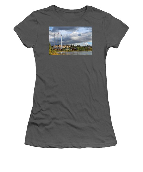 Old Mill District Women's T-Shirt (Athletic Fit)