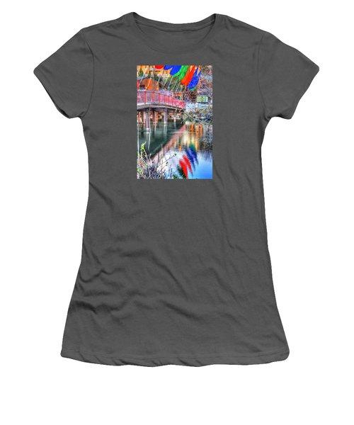 Old Mill Foot Bridge 481 Women's T-Shirt (Junior Cut) by Jerry Sodorff