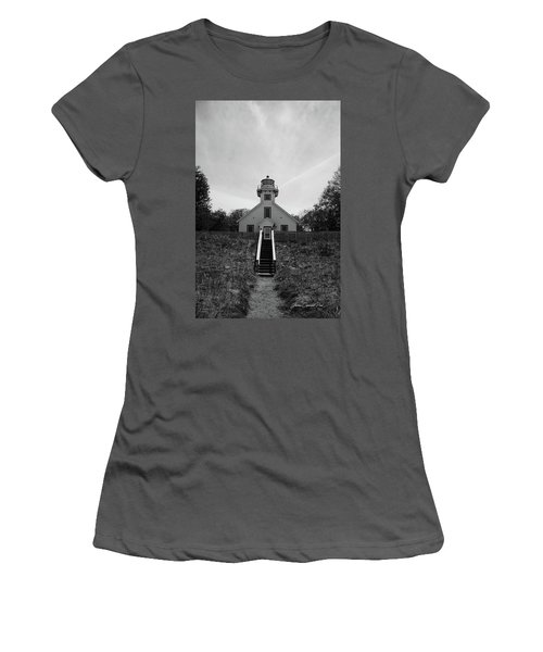 Old Mission Point Lighthouse Women's T-Shirt (Junior Cut) by Joann Copeland-Paul