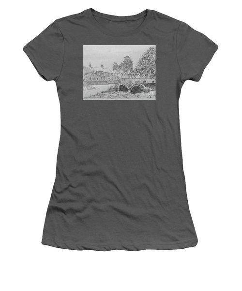 Old Packhorse Bridge Wycoller Women's T-Shirt (Junior Cut) by Anthony Lyon