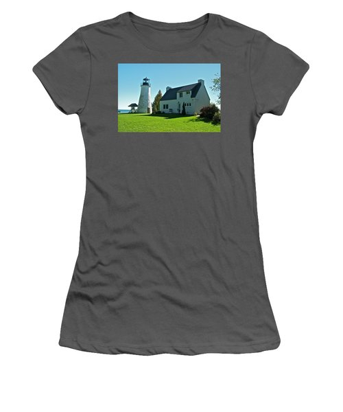 Old Presque Isle Lighthouse_9480 Women's T-Shirt (Junior Cut) by Michael Peychich