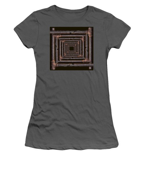 Women's T-Shirt (Junior Cut) featuring the mixed media Old Rusty Pipes by Viktor Savchenko