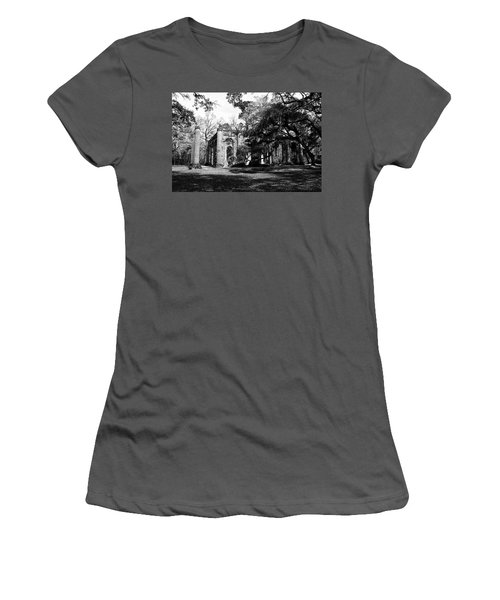 Women's T-Shirt (Junior Cut) featuring the photograph Old Sheldon Church  by Gary Wightman