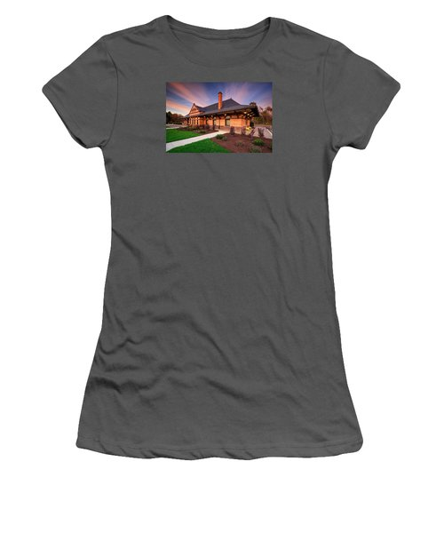 Old Train Station Women's T-Shirt (Athletic Fit)