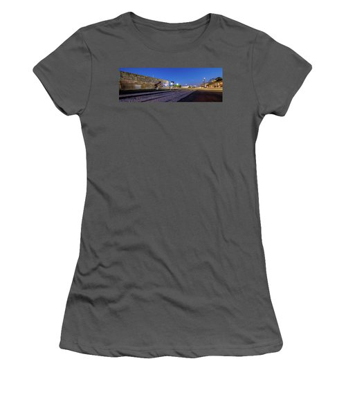 Old Wall Signage - San Antonio  Women's T-Shirt (Athletic Fit)
