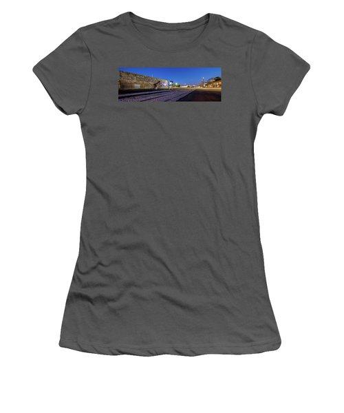 Old Wall Signage - San Antonio  Women's T-Shirt (Junior Cut)