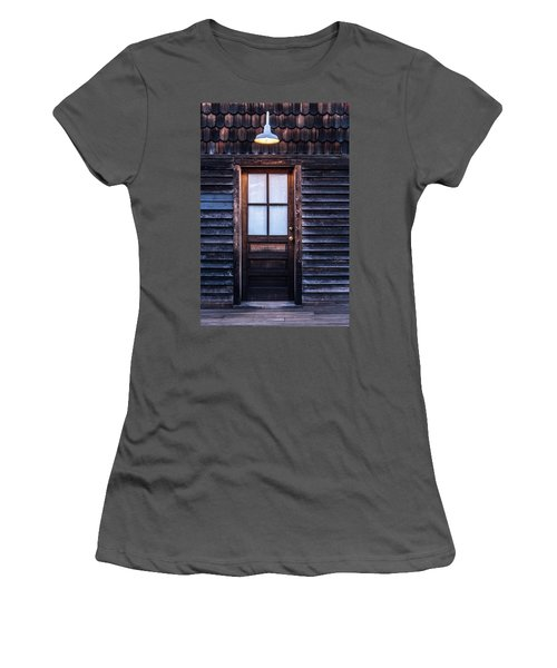Old Wood Door And Light Women's T-Shirt (Junior Cut) by Terry DeLuco