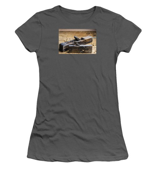 Old Wooden Planes Women's T-Shirt (Athletic Fit)