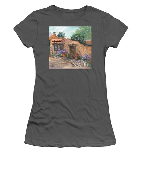 Women's T-Shirt (Junior Cut) featuring the painting Old Adobe Cottage by Marilyn Smith