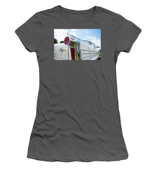Oldsmobile Tail Women's T-Shirt (Junior Cut) by Helen Northcott