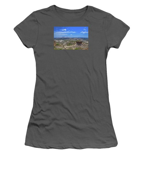 Women's T-Shirt (Junior Cut) featuring the photograph Olduvai Gorge - The Cradle Of Mankind by Pravine Chester