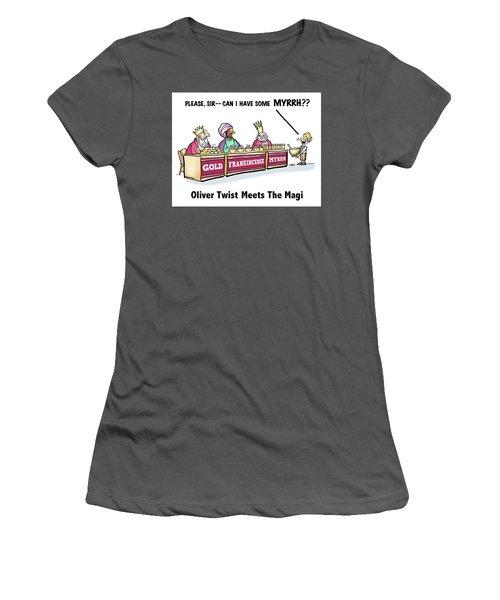 Oliver Wants Some Myrrh Women's T-Shirt (Athletic Fit)