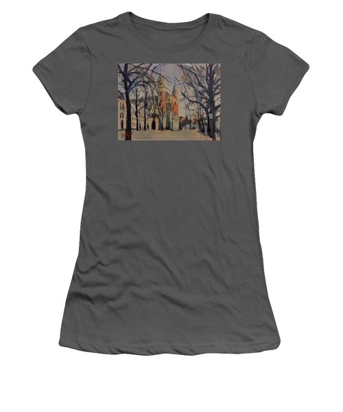 Olv Square On A Sunny Winter Afternoon Women's T-Shirt (Athletic Fit)