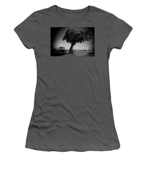 Women's T-Shirt (Junior Cut) featuring the photograph On Safari by Karen Lewis