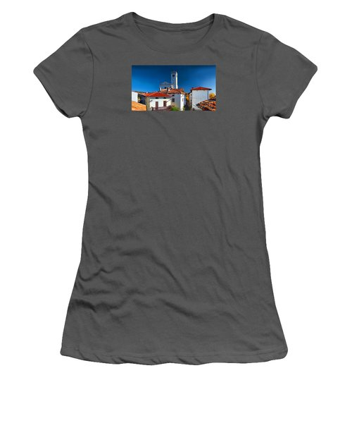 Women's T-Shirt (Junior Cut) featuring the photograph On The Tiles by Graham Hawcroft pixsellpix