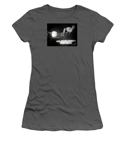 On Time At Grand Central Station Women's T-Shirt (Athletic Fit)