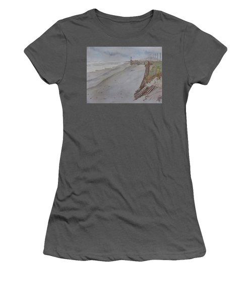 Once There Was A Lighthouse Women's T-Shirt (Junior Cut) by Joel Deutsch