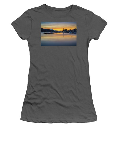 One Morning In Gig Harbor Women's T-Shirt (Junior Cut) by Ken Stanback