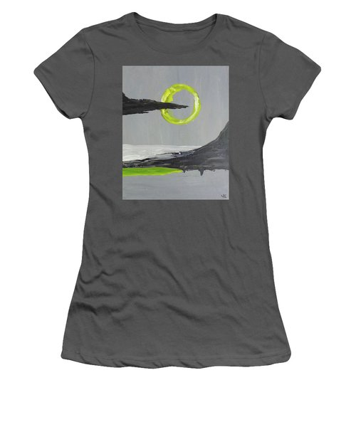 Women's T-Shirt (Junior Cut) featuring the painting One Of Those Days by Victoria Lakes