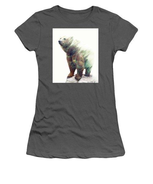 One With Nature V2 Women's T-Shirt (Junior Cut) by Uma Gokhale