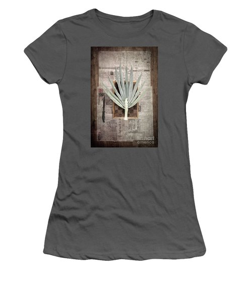 Women's T-Shirt (Athletic Fit) featuring the photograph Onion by Linda Lees