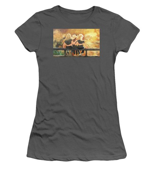 Only Sisters Know Women's T-Shirt (Junior Cut) by Karen Kennedy Chatham