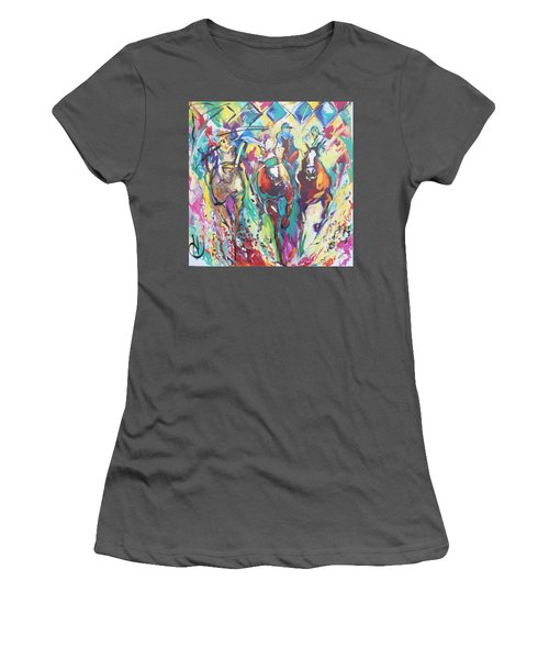 Opening Day In Del Mar Women's T-Shirt (Junior Cut) by Heather Roddy