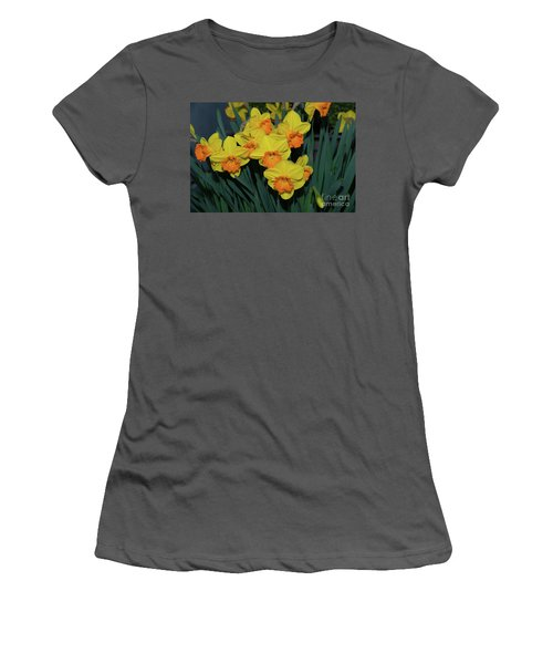 Orange-centered Daffodils Women's T-Shirt (Athletic Fit)