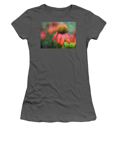 Orange Coneflower 2576 Idp_2 Women's T-Shirt (Athletic Fit)