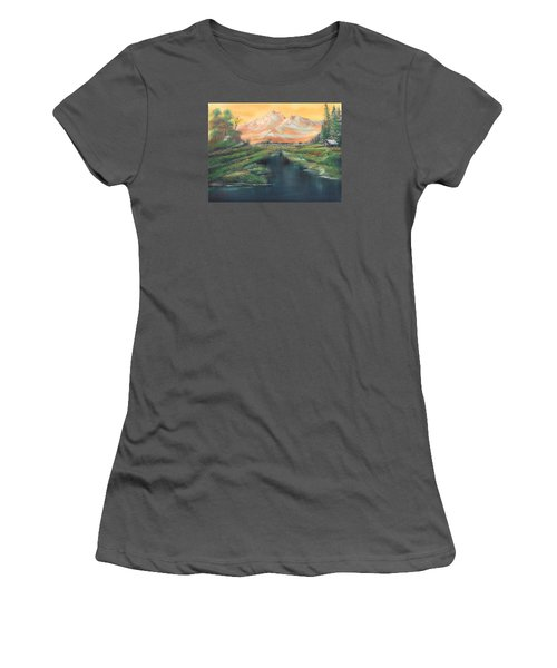 Orange Mountain Women's T-Shirt (Athletic Fit)